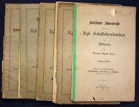Jahresbericht über das kgl. Schullehrerseminar zu Zschopau 5. Hefte um 1890 sf