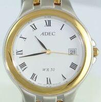 ADEC WR 50 Herren-Armbanduhr / Quarz / Edelstahl - vergoldet