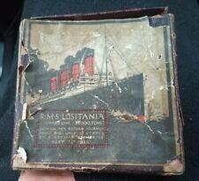 "C1915 CUNARD THE sinking of ""LUSITANIA""(GERMAN) MEDAL IN ITS ORIGINAL BOX"