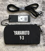 Y-3 Yohji Yamamoto CH2 GFX Logo Pouch Small Crossbody Bag, Black/Off White NWT