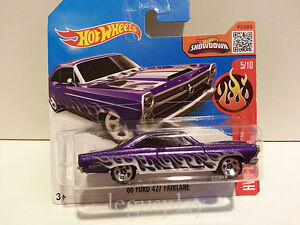 Voiture Mattel Hot Roues DHX30 '66 Ford 427 Fairlane Hw Flames 1/64
