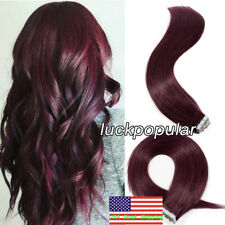 Tape in Hair Extensions Remy Human Hair Skin Weft Straight for Fashion Women US