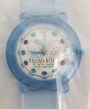 Vintage 1999 Sanrio HELLO KITTY & MIMMY Blue ANGEL Wrist Watch HTF Rare NEW