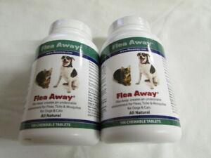Flea Away - 2 Bottles 100 Chewable Tablets Expires 04/23