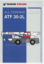 Tadano Faun ATF 30-2L Prospekt D GB F E 2002 Autokran mobile crane grue brochure