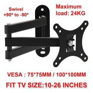 Tilt Swivel TV Wall Mount Bracket 10 14 16 17 18 19 20 22 24 26  Inch LCD LED