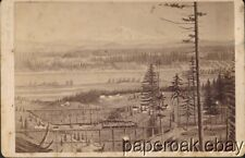 ca1880's Cabinet Photo Of Painting Of Portland, Oregon