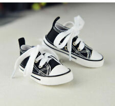 "Black Sports Shoes Canvas Sneakers For 1/6 11"" 27"" BJD doll AOD YOSD DOD DK DZ"