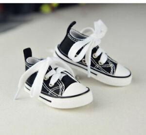 "Black Sports Shoes Canvas Sneakers For 1/6 11"" 27"" BJD doll AOD YOSD DOD DK DZ"