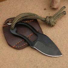 Portable Self-Defence Mini Pocket Finger Paw Survival Camping Neck Knife Sheath