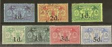 New Hebrides 1920-24 Surcharges Mint & Used Cat£61
