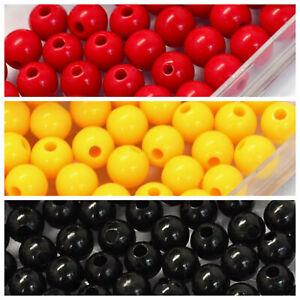 NAIDOC Week 300 x 6mm Round Beads - Black Yellow Red Traditional Aboriginal