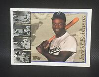 Jackie Robinson ~ Brooklyn Dodgers MLB HOF 1996 Topps Baseball Card #42 HOF MINT