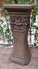 Konsole Stütze Sockel Gotisch m Drache Kunst Sandstein Look Steinguß T 10 ROT
