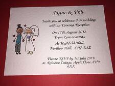 50 fatto a mano Matrimonio Inviti & Buste-Sposa e Sposo Con Cappello Design