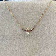 New With Tags  $655 Zoe Chicco 14k gold diamond Curved  bar Necklace