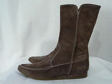 Armando D'Alessandro Comfortable Flat Suede boots with zipper Size 38 US 8 Brown