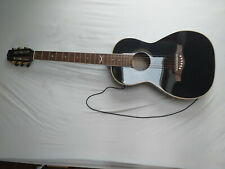 schwarze Parlor Gitarre EKO NTX