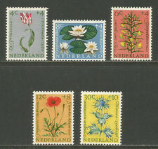 Netherlands 1960 Flowers semipostal--Attractive Topical (B343-47) MH