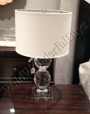 Pottery Barn Carlotta Table Lamp Base Glass Crystal Stacked Sphere Faceted NIB