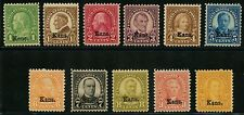 "#658-668 ""Kansas"" Overprint Complete Set F-Vf / Vf Og Nh Cv $432 Bt8749"