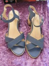 ladies indigo leather strappy shoes,size uk 7,everyday/holidays