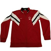 Vintage Nike Soccer Track Jacket Sweater Womens Sz. XL Red Full Zip Active Wear