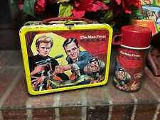 The Man From U.N.C.L.E. Vintage Metal Lunch Box and Thermos Vintage 1966 Nice