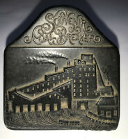 FAUX Vintage SOUVENIR OF COAL BREAKER Mine Factory Carved Paperweight