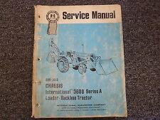 International Harvester 3600A Loader Backhoe Chassis Shop Service Repair Manual