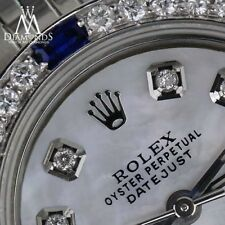 Rolex 26mm Datejust White MOP Mother Of Pearl Dial Sapphire & Diamond