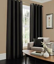 Faux Silk Eyelet Top Curtains Fully Lined Ready Made Pairs With Two Ties Backs Fuchsia Single Cushion Cover