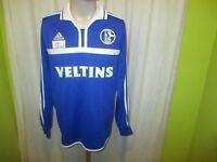 "FC Schalke 04 Adidas Langarm Spieler Version Trikot 2000/01 ""Veltins"" Gr.M Neu"