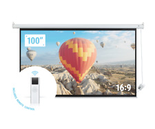 "Homegear 100"" 16:9 HD Electric Motorized Projector Screen + Remote"