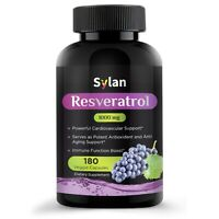 Resveratrol Supplement 1000 mg 180 Caps Made in USA Antioxidant & Anti Aging
