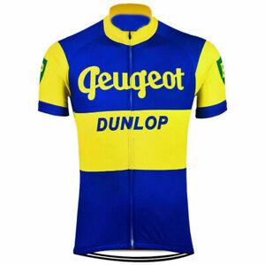 Peugeot BP Dunlop Cycling Jersey cycling Short Sleeve Jersey
