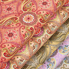 Cotton Fabric per FQ Vintage Floral Retro Paisley Dress Quilting Patchwork VK63