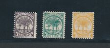 """SAMOA """"PALMS (1886-97)"""" #9d, 11f & 13g; UNUSED/PARTIAL GUM; CV $26"""