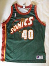 Champion Authentic Shawn Kemp Seattle SuperSonics jersey s 48 XL Vintage Sonics
