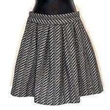 Storm & Marie 36 skirt black white stripe wool blend pleated mini ALAIA New S