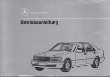 MERCEDES S-KLASSE W 140  Betriebsanleitung 1993 Handbuch S 280 320 420 500 BA