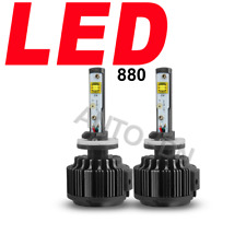 1Pair Lamp LED Fog Light Bulb 6K Super White S High Power Driving Car Light 880