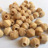 25X Wooden Bead 16mm Natural Unpainted Bicone Wood Beads DIY Macrame Craft