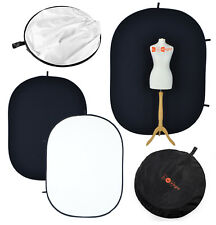 Black / White 2m Popup Backdrop  Reversible Studio Collapsible Muslin Background