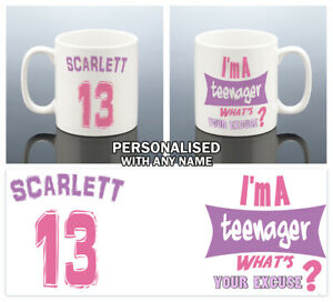 13th BIRTHDAY MUG Girls 13 YEARS Birthday Gift Her Teenager Cup Granddaughter
