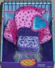 Only Hearts Club Chair & Ottoman - pink purple stars heart pillow