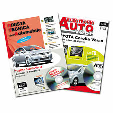 1Manuale tecnico riparazione/manutenzione+1Manuale Diagnosi Toyota Corolla Verso