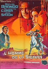 AFFICHE FILM L'HOMME DE LA SIERRA - 1966 MARLON BRANDO petit format
