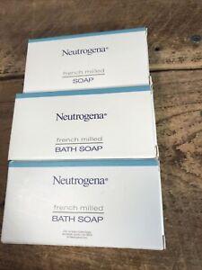 NEUTROGENA French Milled Bath Soap Travel Size 3 Bars