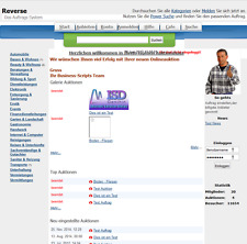 PHP Reverse Auftrags Auktions System Script Auktionshaus Portal Webmaster Tool
